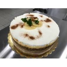 TORT CU BLAT DE BISCUIT ȘI MERE CARAMELIZATE